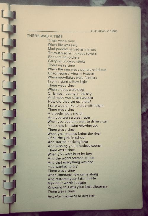 PoemThereWasATime